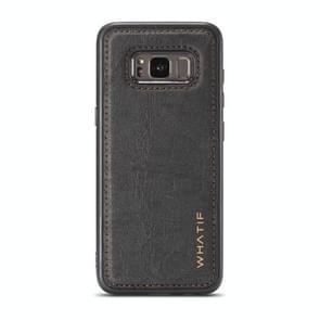 Voor Galaxy S8 WHATIF Kraft Paper TPU + PC Full Coverage Protective Case(Zwart)