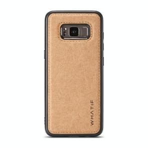 For Galaxy S8 WHATIF Kraft Paper TPU + PC Full Coverage Protective Case(Brown)