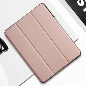 Voor iPad 9 7 Mutural horizontale Flip PC + TPU + PU lederen draagtas met houder & pen sleuf (Rose goud)