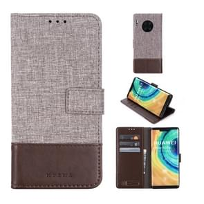 For Huawei Mate 30 Pro MUMXA MX102 Horizontal Flip Canvas Stitching Leather Case with Holder & Card Slots & Wallet(Brown)