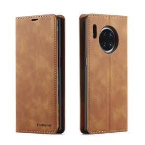 For Huawei Mate 30 Pro Forwenw Dream Series Oil Edge Strong Magnetism Horizontal Flip Leather Case with Holder & Card Slots & Wallet & Photo Frame(Brown)
