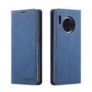 Voor Huawei mate 30 Forwenw Dream Series olie rand sterke magnetisme horizontale Flip lederen draagtas met houder & kaartsleuven & portemonnee & fotolijstjes (blauw)
