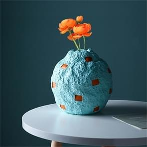 Cute Fruit Plant Shape Creative Nordic Style Resin Frosted Vase, Style:Blue Apple