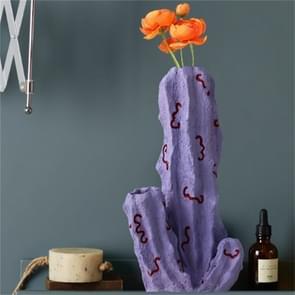 Schattig fruit plant vorm creatieve Scandinavische stijl hars Frosted vaas  stijl: paarse cactus