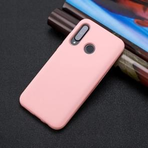 For Huawei P30 Lite 3 in 1 Shockproof PC + Silicon Case(Pink)