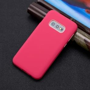 For Galaxy S10e 3 in 1 Shockproof PC + Silicon Case(Red)
