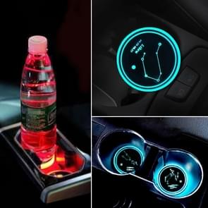 Auto sterrenbeeld serie AcrylicColorful USB lader water Cup Groove LED atmosfeer licht (weegschaal)