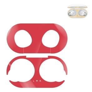 Voor Galaxy Buds Wireless Bluetooth oortelefoon Metalen beschermende sticker (Rood)
