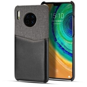 Voor Huawei mate 30 Pro PC + PU splicing case met kaartsleuven (zwart)