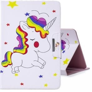 Voor 8 inch Tablet PC universele gekleurde tekening horizontale Flip PU lederen draagtas met houder & kaartsleuven (Rainbow Horse)