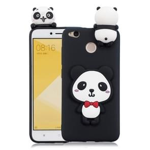 For Xiaomi Redmi 4X 3D Cartoon Pattern Shockproof TPU Protective Case(Red Bow Panda)