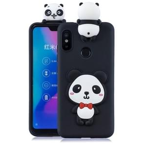 For Xiaomi Redmi 6 Pro 3D Cartoon Pattern Shockproof TPU Protective Case(Red Bow Panda)