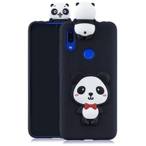 For Xiaomi Redmi 7 3D Cartoon Pattern Shockproof TPU Protective Case(Red Bow Panda)