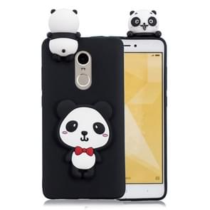 For Xiaomi Redmi Note 4 & 4X 3D Cartoon Pattern Shockproof TPU Protective Case(Red Bow Panda)