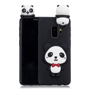 For Galaxy S9 3D Cartoon Pattern Shockproof TPU Protective Case(Red Bow Panda)