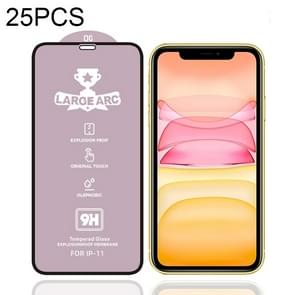Voor iPhone 11 25 PCS 9H HD hoge Alumina Full Screen gehard glas film