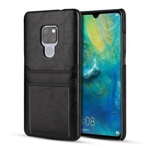Voor Huawei mate 20 X kalf textuur PU + PC beschermhoes met kaartsleuven (zwart)