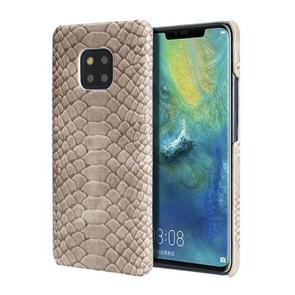 For Huawei Mate 20 Pro Snakeskin Texture PC + PU Case(Grey)
