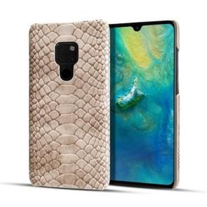 Voor Huawei mate 20 slangenhuid textuur PC + PU case (grijs)