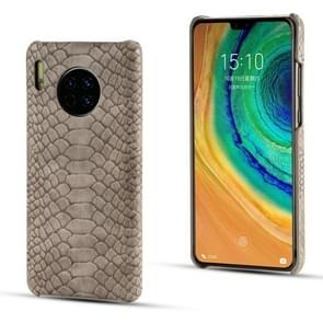 Voor Huawei mate 30 Pro slangenhuid textuur PC + PU case (grijs)
