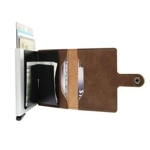 For 6.5 inch and Below Mobile Phone Universal multi-function Card Slot & Wallet & Holder & Photo Frame(Brown)