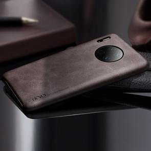Voor Huawei mate 30 X-level Vintage serie Cowboy textuur flexibele lederen draagtas (koffie)