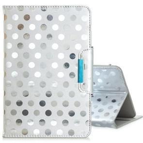 Voor 8 inch Universal Tablet Solid Color Wave Point Horizontale Flip Lederen Case  met Houder (Zilver)