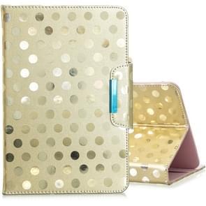 Voor 8 inch Universal Tablet Solid Color Wave Point Horizontale Flip Lederen Case  met Houder (Golden)