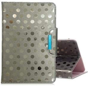 Voor 8 inch Universal Tablet Solid Color Wave Point Horizontale Flip Lederen Case  met Houder (Grijs)