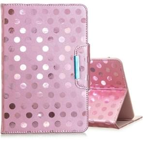 Voor 8 inch Universal Tablet Solid Color Wave Point Horizontale Flip Lederen Case  met houder (Rose Gold)
