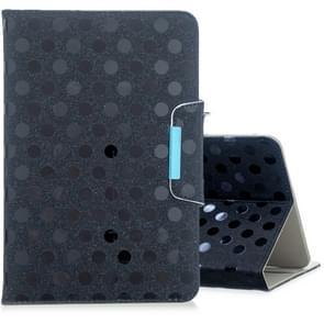 Voor 8 inch universele Tablet effen kleur Wave punt horizontale Flip leergeval  met houder (zwart)