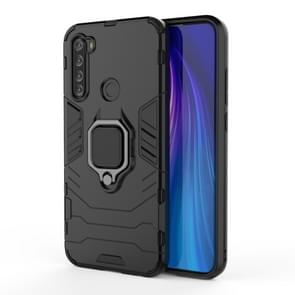 For Xiaomi Redmi Note 8T Shockproof PC + TPU Protective Case with Magnetic Ring Holder(Black)