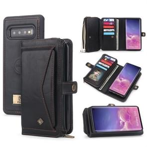 For Galaxy S10 POLA Multi-function TPU + PC Magnetic Horizontal Flip Leather Case with Holder & Card Slots & Wallet & Photo Frame(Black)