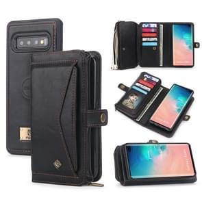 For Galaxy S10+ POLA Multi-function TPU + PC Magnetic Horizontal Flip Leather Case with Holder & Card Slots & Wallet & Photo Frame(Black)
