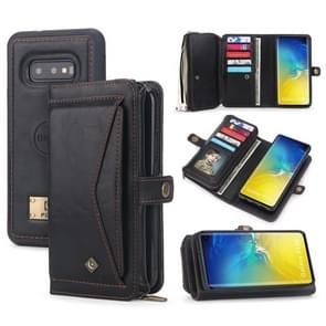 For Galaxy S10e POLA Multi-function TPU + PC Magnetic Horizontal Flip Leather Case with Holder & Card Slots & Wallet & Photo Frame(Black)