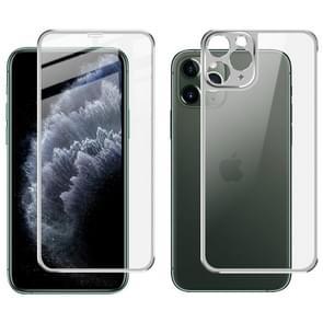 Voor iPhone 11 Pro Max IMAK metalen frame volledig scherm gehard glas filmscherm film + terug film (zilver)