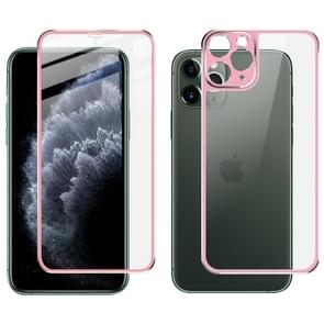 Voor iPhone 11 Pro IMAK Metal Frame Full Screen Tempered Glass Film Screen Film + Back Film(Pink)