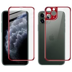 Voor iPhone 11 Pro IMAK Metal Frame Full Screen Tempered Glass Film Screen Film + Back Film(Red)