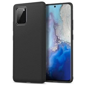 Voor Galaxy S20 Lenuo Leshen Series Stripe Texture TPU Case(Zwart)