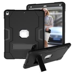 Voor iPad 10 5 contrast kleur silicone + PC combinatie geval met houder (zwart)