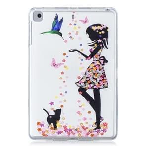 Voor iPad Mini 1/2/3/4 gekleurde tekening patroon TPU case (Butterfly meisje)