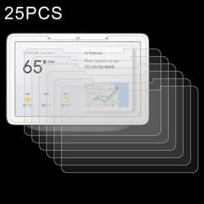 25 stuks 9H 2.5 D explosieveilige gehard glas film voor Google nest hub Max