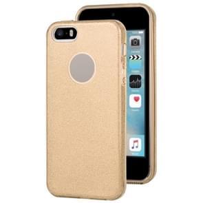 Voor iPhone 5 & 5s & SE TPU Glitter All-inclusive Beschermhoes (Goud)