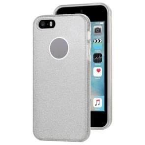 Voor iPhone 5 & 5s & SE TPU Glitter All-inclusive Beschermhoes(Zilver)