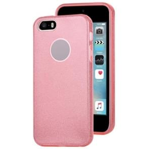 Voor iPhone 5 & 5s & SE TPU Glitter All-inclusive Beschermhoes (Roze)