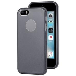 Voor iPhone 5G TPU glitter all-inclusive beschermhoes (zwart)