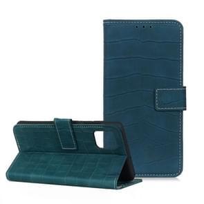 Voor Huawei P40 Pro Crocodile Texture Horizontale Flip Leather Case met Holder & Card Slots & Wallet(Donkergroen)