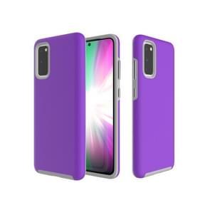 Voor Galaxy S20 Anti-slip Armor TPU + PC Protective Case(Purple)