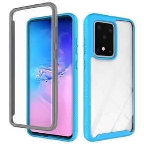 Voor Galaxy S20 Ultra Tweelaags design schokbestendige pc + TPU-beschermhoes (lichtblauw)