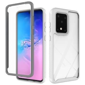 Voor Galaxy S20 Ultra Tweelaags design schokbestendige pc + TPU-beschermhoes(Wit)